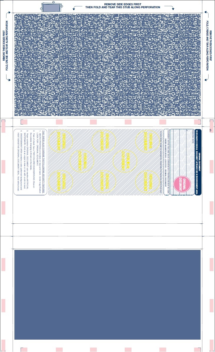 Blank Check Stock Voucher Business Laser Paper