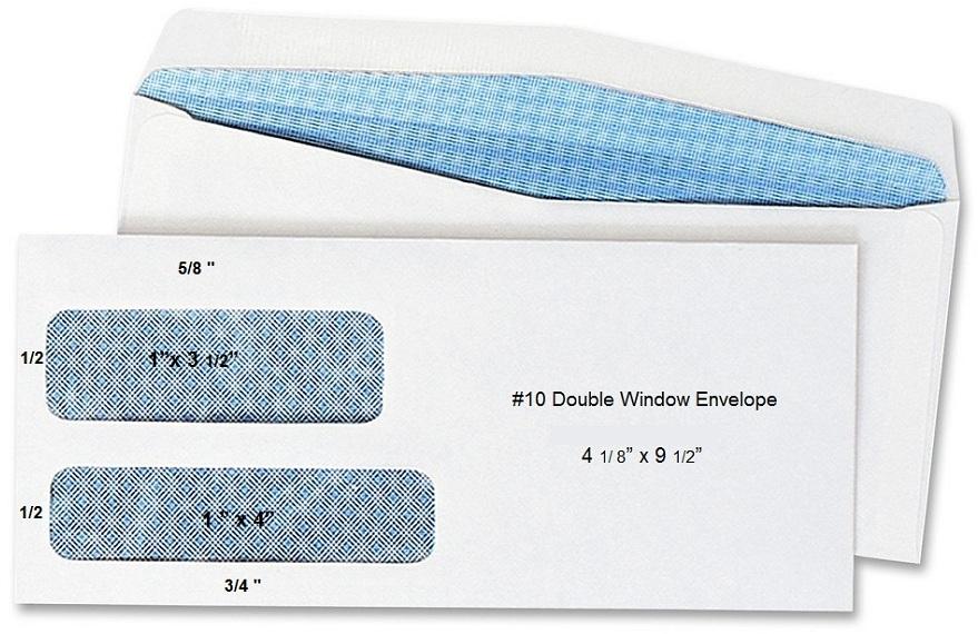 Envelopes #9 Double Window