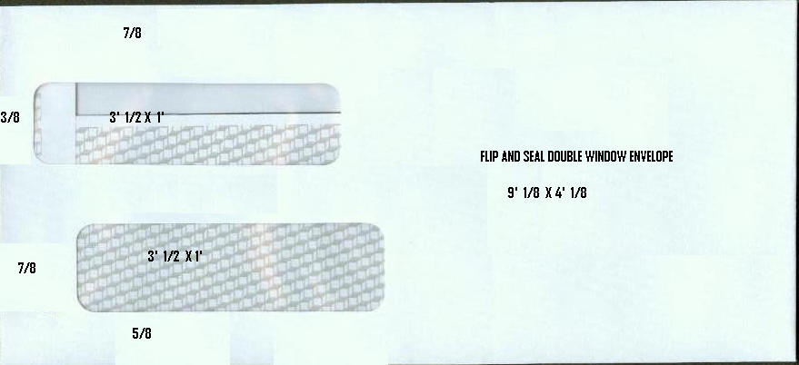 10 window envelopes and 9 window envelopes plain or for Double window envelope template